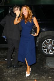 Poppy Montgomery - Outside the WWHL studios in New York