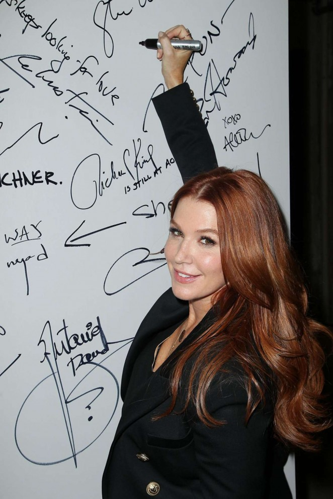 Poppy Montgomery - Promotes Unforgettable at AOL Buils Series in NY
