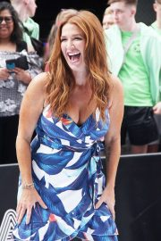 Poppy Montgomery - Visiting Strahan and Sara promoting her new ABC series Reef Break in New York