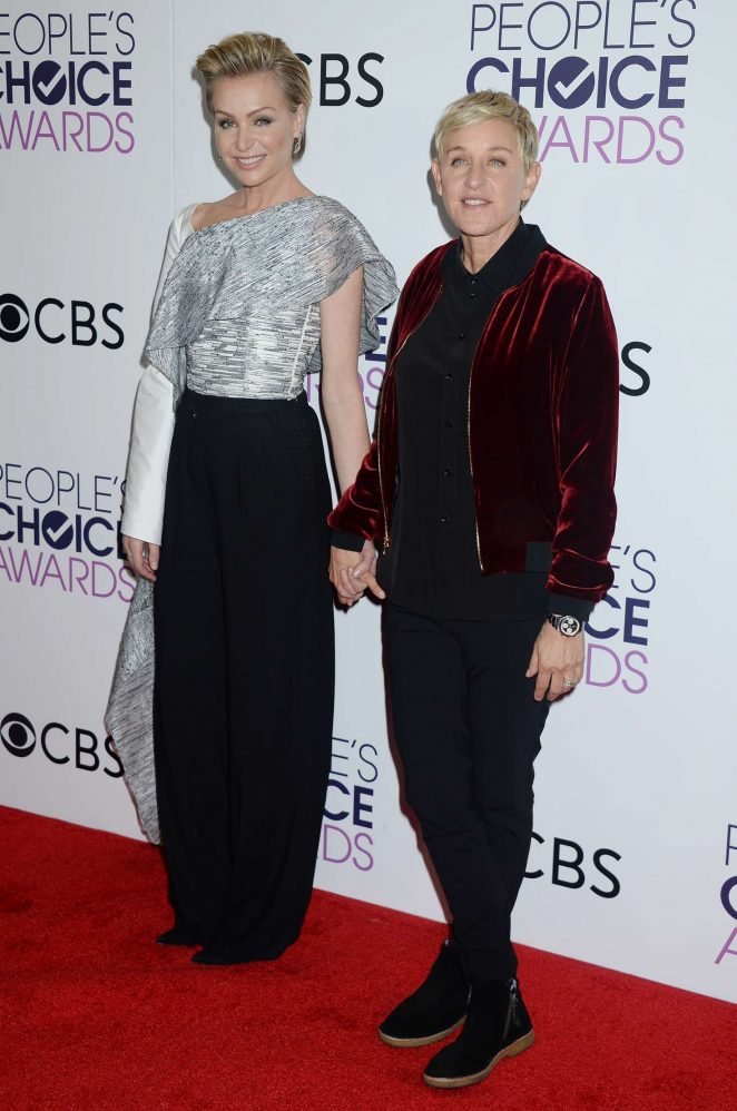 Portia de Rossi and Ellen DeGeneres: 2017 Peoples Choice ...