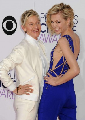 Portia De Rossi & Ellen DeGeneres - 41st Annual People's Choice Awards in LA