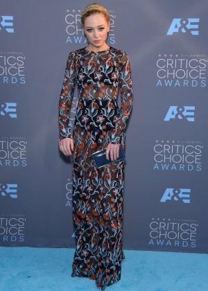 Portia Doubleday - 2016 Critics' Choice Awards in Santa Monica