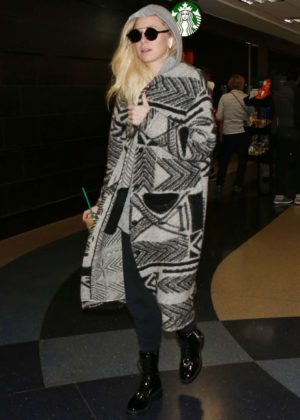 Portia Doubleday at LAX International Airport in Los Angeles