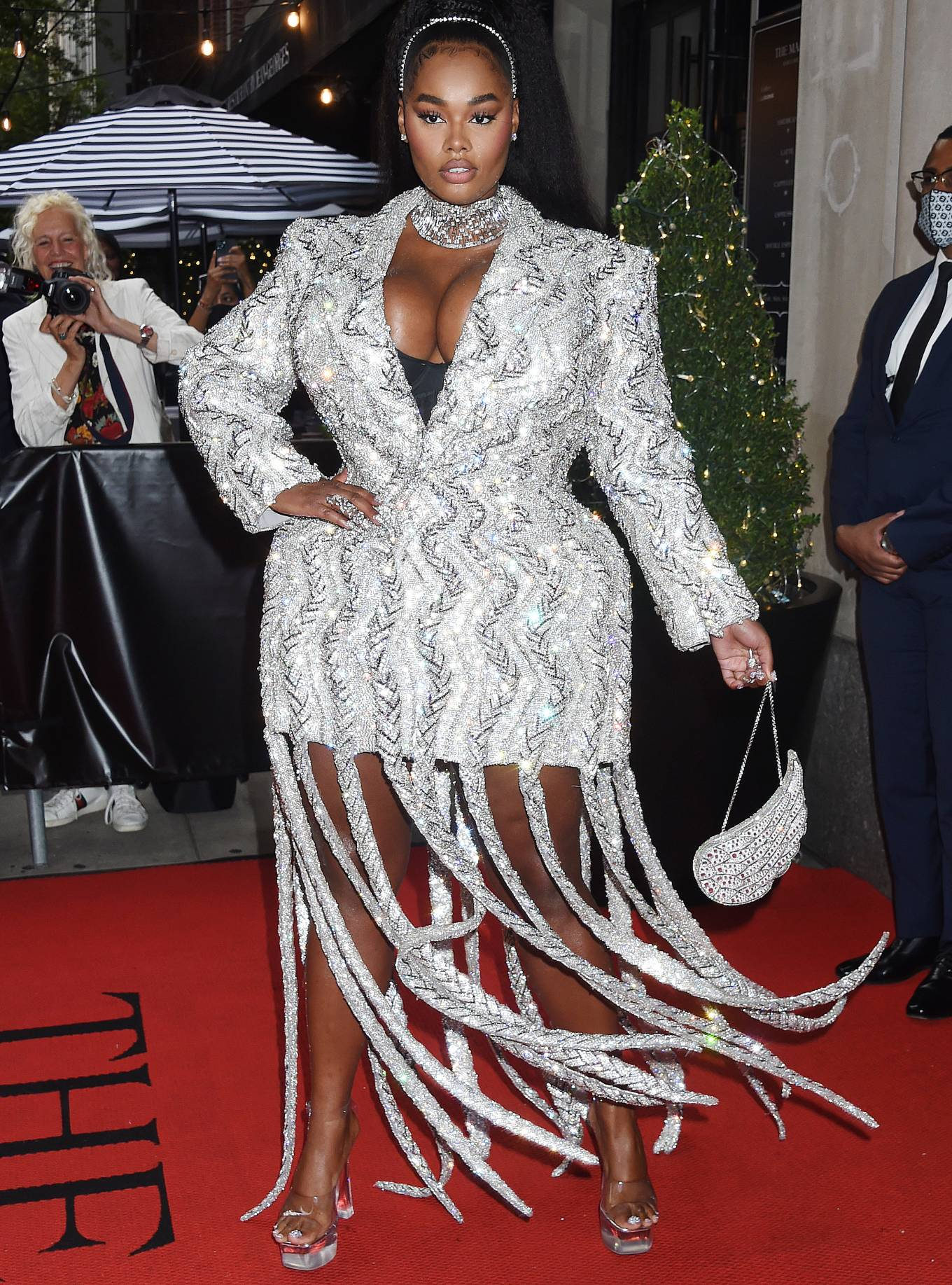 Precious Lee 2021 : Precious Lee – Departing The Mark Hotel in New York City for the 2021 Met Gala-02