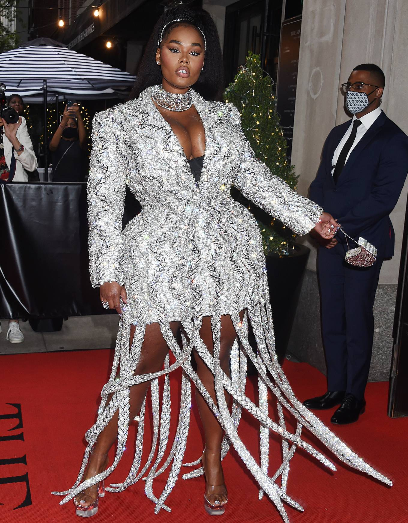 Precious Lee 2021 : Precious Lee – Departing The Mark Hotel in New York City for the 2021 Met Gala-03