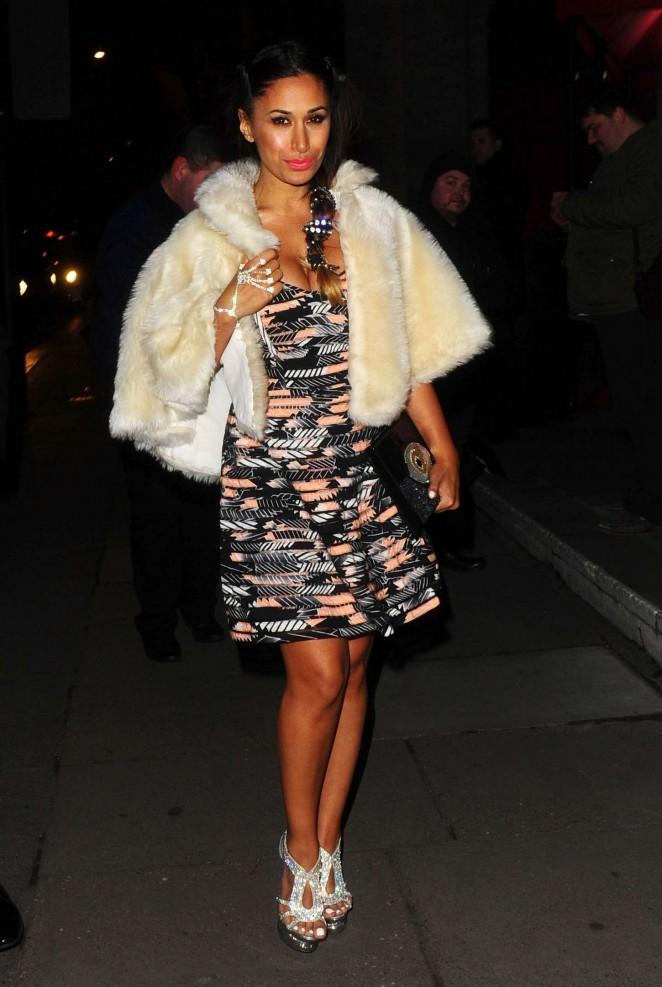 Preeya Kalidas - Leaving The BAFTAs in London