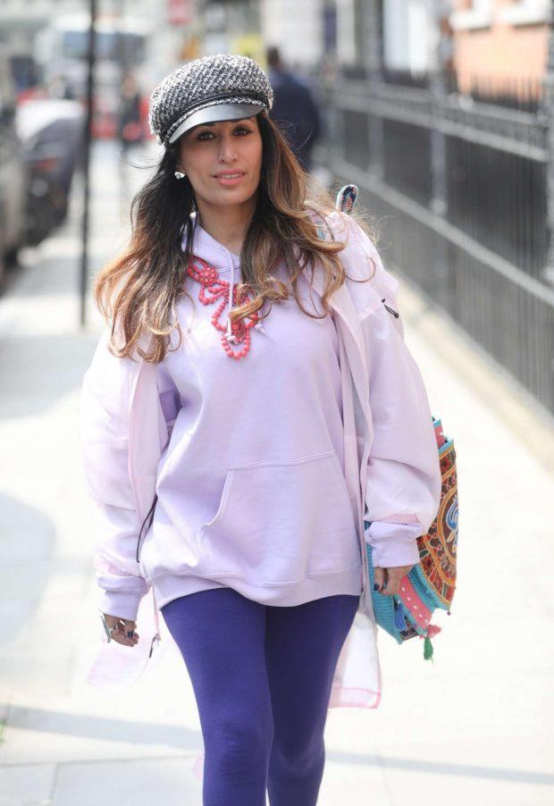 Preeya Kalidas -Walks through Mayfair with a friend
