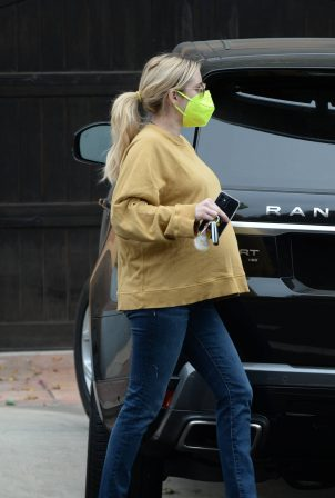 Pregnant Emma Roberts - out in Los Angeles