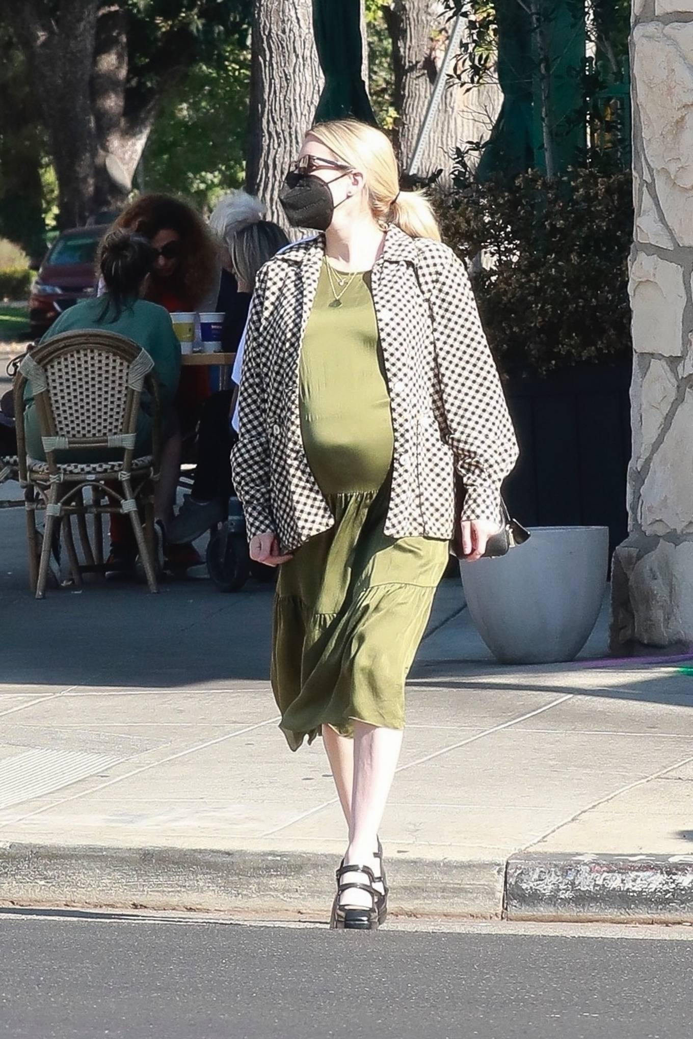 Pregnant Emma Roberts - Seen shopping in Los Angeles