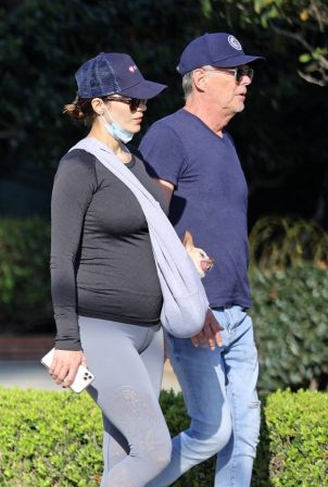 Pregnant Katharine McPhee - out for a walk in Montecito