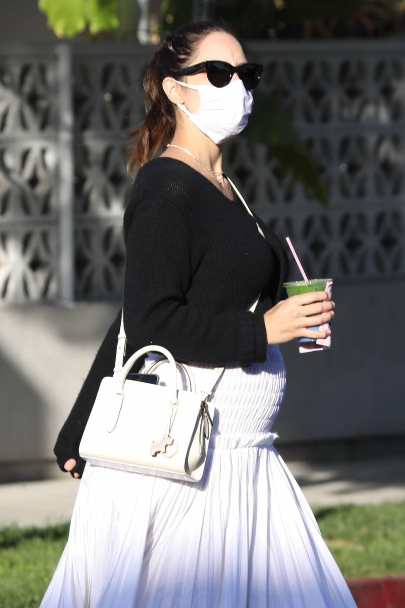 Pregnant Katharine McPhee - Seen at Cha Cha Matcha in West Hollywood