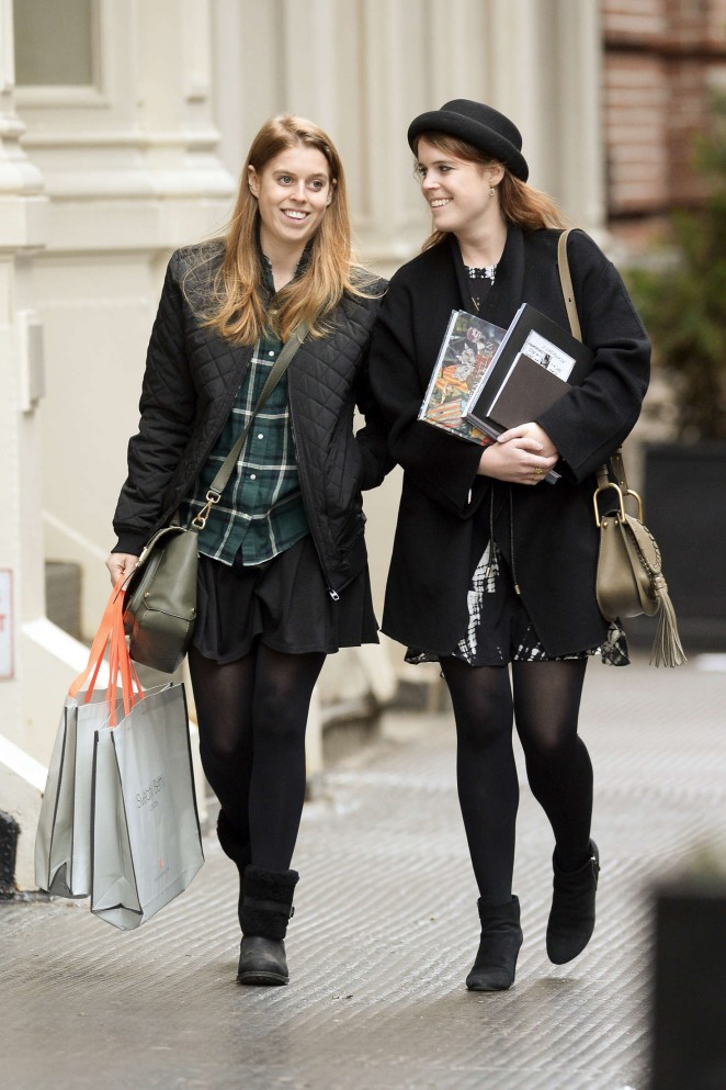 Princess Beatrice of York and her sister Princess Eugenie of York Shopping in New York