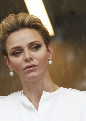 princess charlene of monaco at f1 grand prix of monaco in