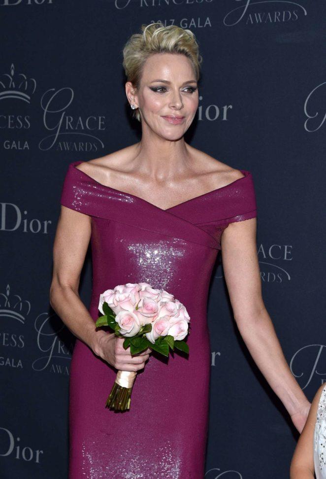 Princess Charlene - Princess Grace Awards Gala 2017 in Los Angeles