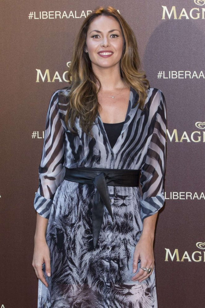 Priscila de Bustin - Magnum New Campaign Presentation in Madrid