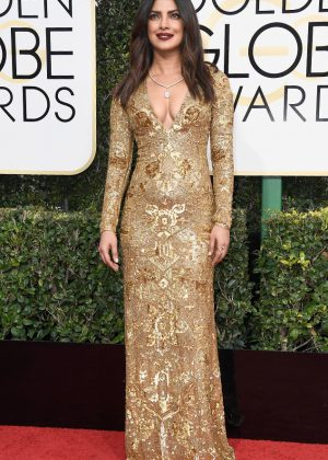 Priyanka Chopra - 74th Annual Golden Globe Awards in Beverly Hills