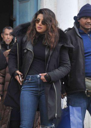 Priyanka Chopra and Marlee Matlin - On 'Quantico' Set in Dublin