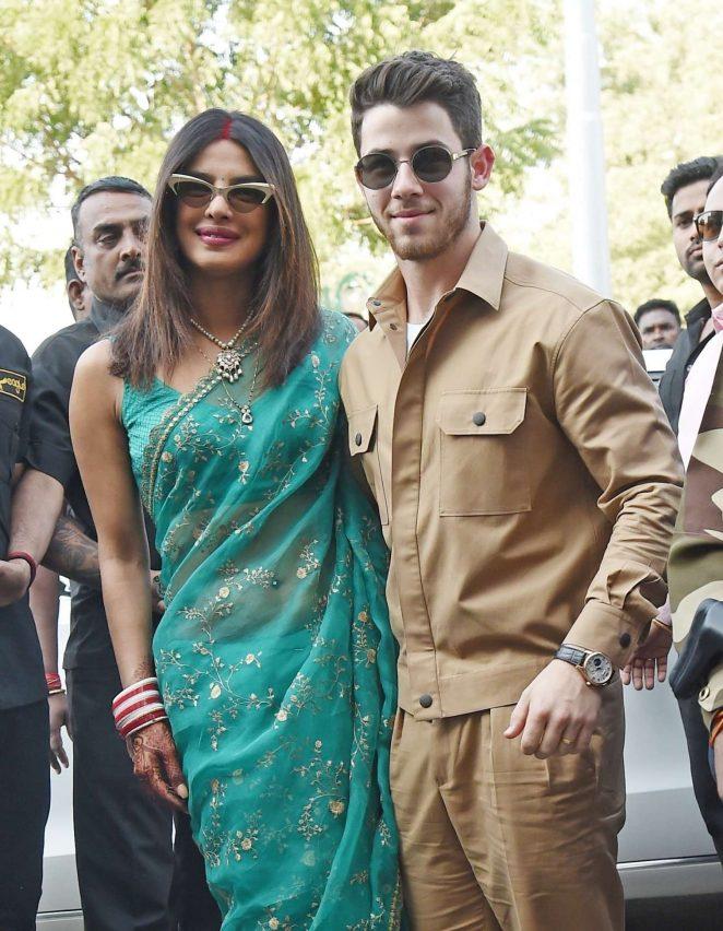 Priyanka Chopra and Nick Jonas - Arrives at Jodhpur Airport in India