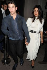 Priyanka Chopra and Nick Jonas at Nobu Berkeley restaurant in Mayfair