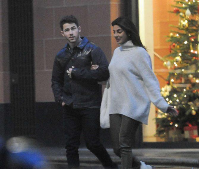Priyanka Chopra and Nick Jonas – Christmas Shopping in London