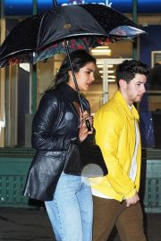 Priyanka Chopra and Nick Jonas - Leaving Mr Chow in New York