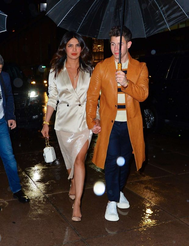 Priyanka Chopra and Nick Jonas - Out for SNL after party in New York