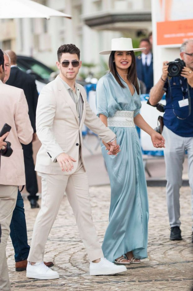 Priyanka Chopra and Nick Jonas - Out in Cannes