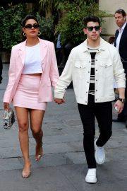 Priyanka Chopra and Nick Jonas - Out in Paris