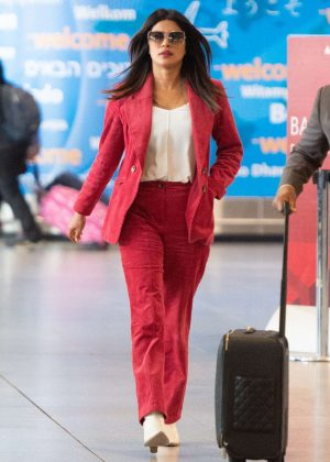 Priyanka Chopra - Arrives at JFK Airport in New York