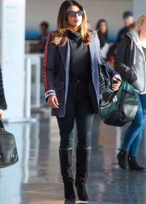 Priyanka Chopra - Arrives at JFK Airport in NYC