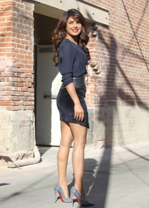 Priyanka Chopra - Arrives at Jimmy Kimmel Live! Show in LA