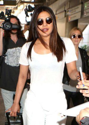 Priyanka Chopra Arrives at LAX Airport in Los Angeles
