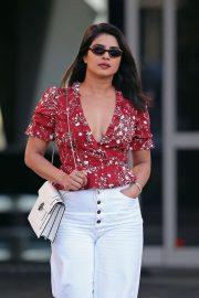 Priyanka Chopra - Arrives at Million Air Burbank in Los Angeles