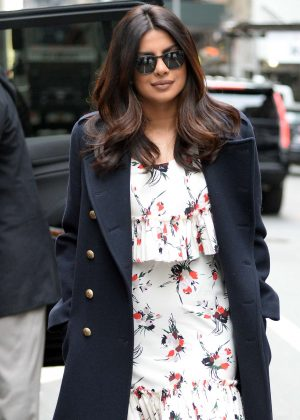 Priyanka Chopra - Arrives on Good Morning America in New York