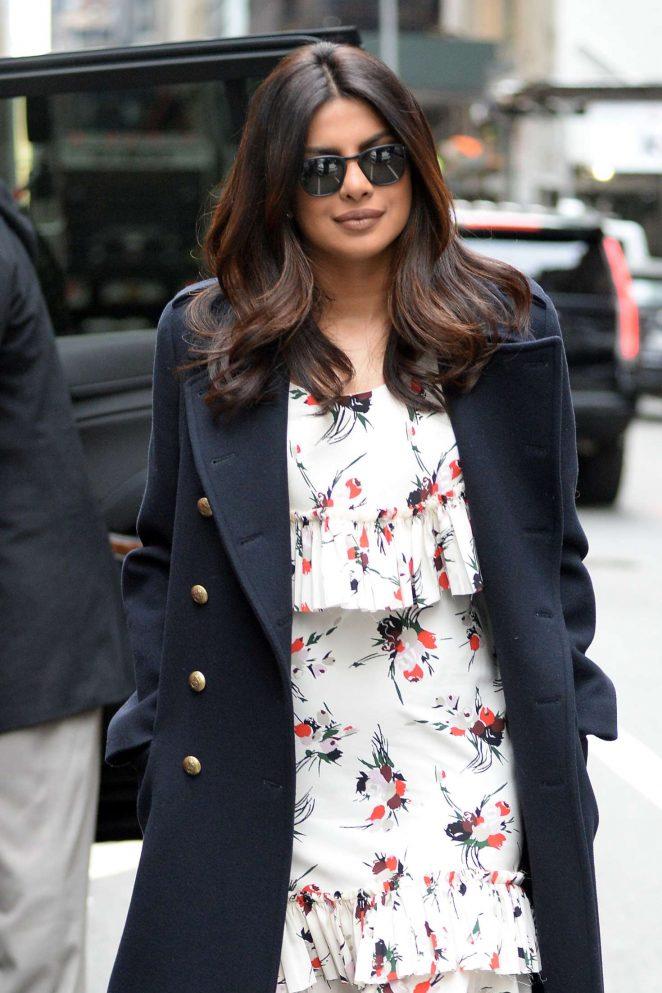 Priyanka Chopra - Arrives on Good Morning America in New York