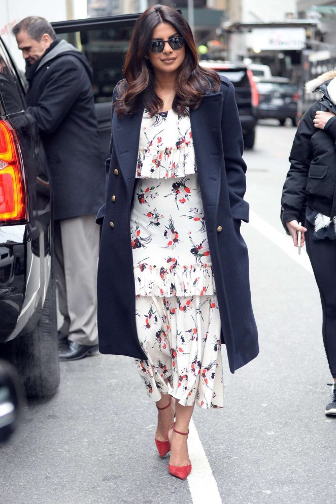 Priyanka Chopra: Arrives on Good Morning America -02