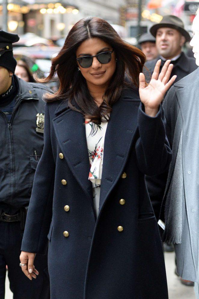 Priyanka Chopra: Arrives on Good Morning America -03