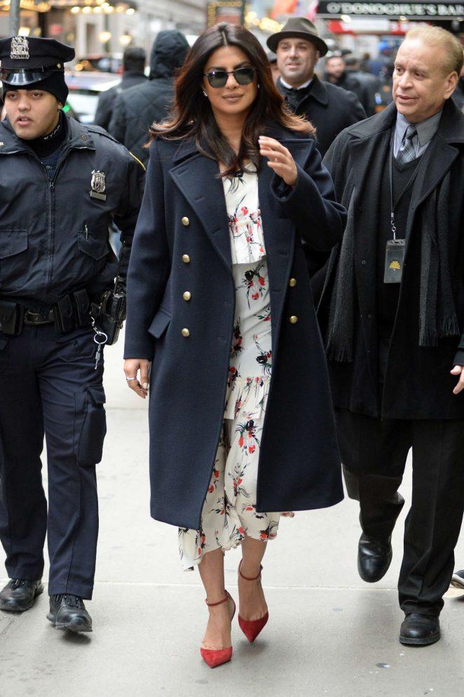 Priyanka Chopra: Arrives on Good Morning America -04