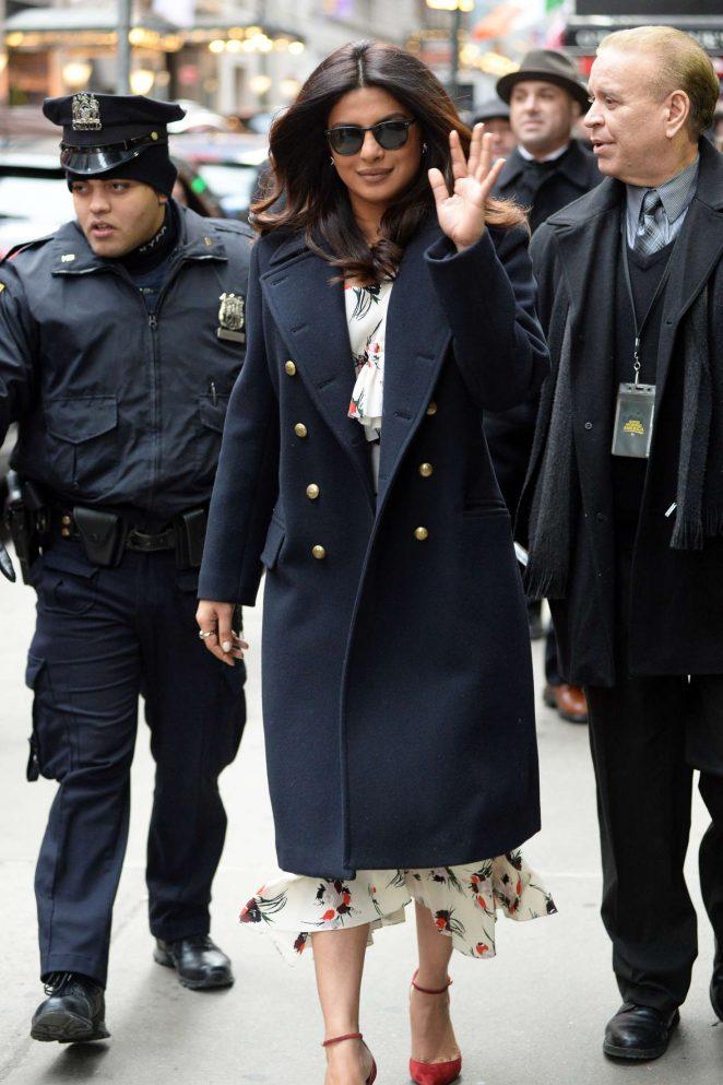 Priyanka Chopra: Arrives on Good Morning America -07
