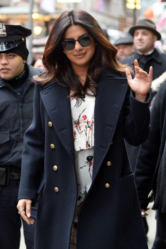 Priyanka Chopra: Arrives on Good Morning America -17