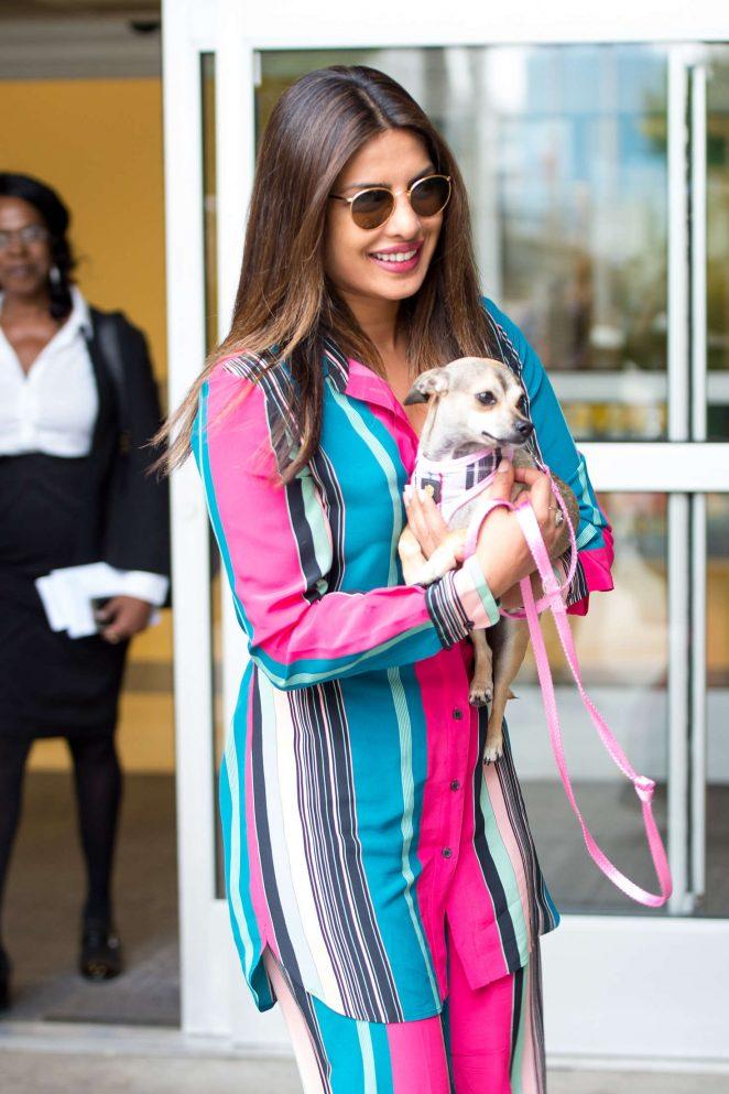 Priyanka Chopra - Arriving at JFK Airport in New York