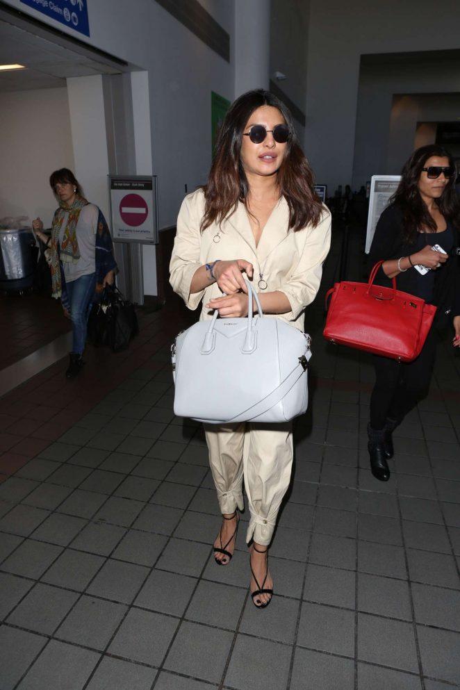 Priyanka Chopra - Arriving at LAX Airport in Los Angeles