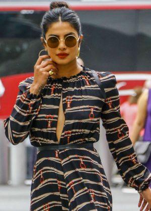 Priyanka Chopra - Arriving at the Longchamp Fashion Show in NY