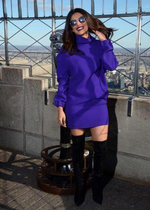 Priyanka Chopra at Empire State Building in New York