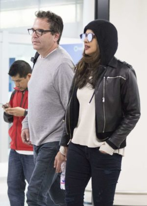 Priyanka Chopra at Fiumicino Airport in Rome