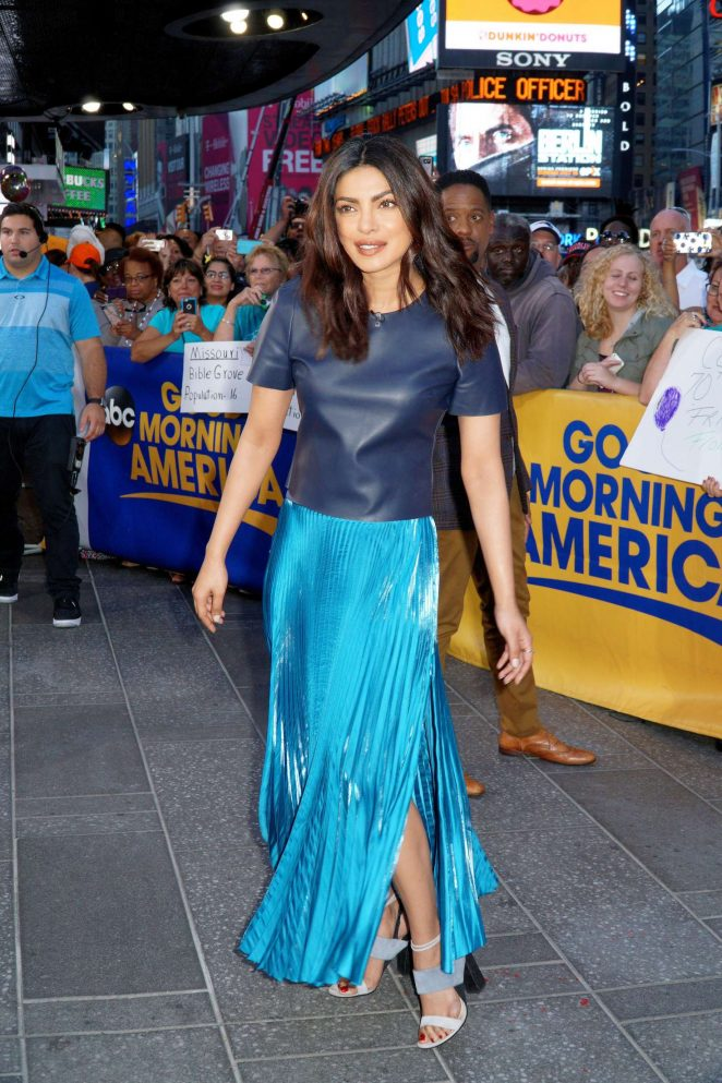Priyanka Chopra at 'Good Morning America' in New York