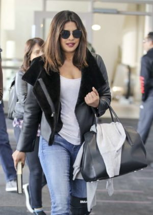 Priyanka Chopra at LAX International Airport in Los Angeles