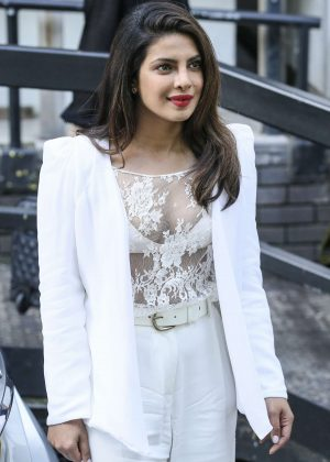 Priyanka Chopra at the BBC Radio One and ITV studios in London