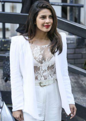 Priyanka Chopra at the BBC Radio One and ITV studios in London