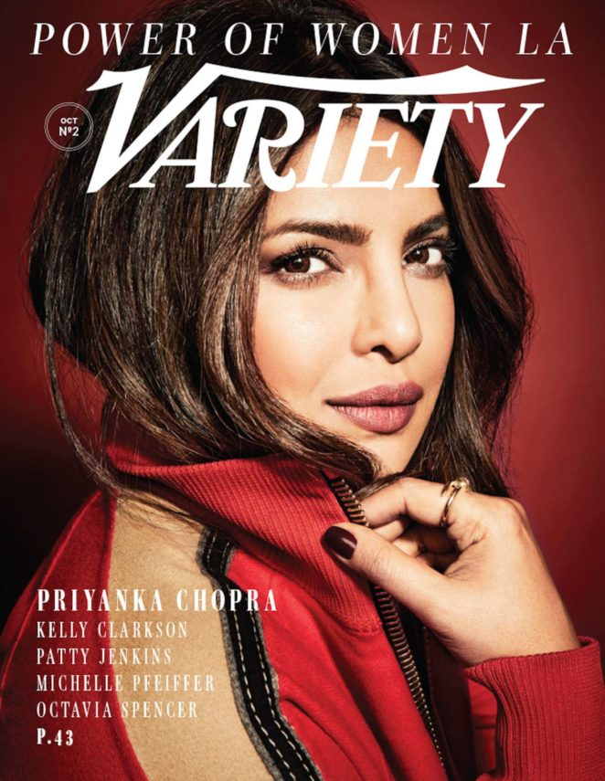 Priyanka Chopra by Art Streiber for Variety: Power of Women Issue (October 2017)